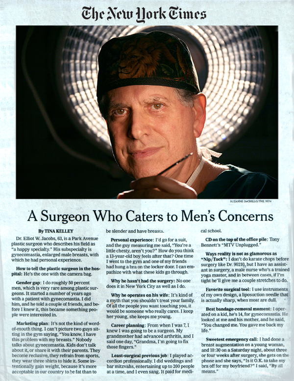 The New York Times - A Surgeon Who Caters to Men's Concerns